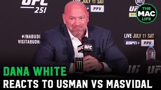 Dana White reacts to UFC 251, Kamaru Usman vs. Jorge Masvidal & the first show on Fight Island