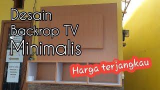 Minimalist Tv Backdrop / Backdrop Tv Minimalis Dari Bahan Hpl
