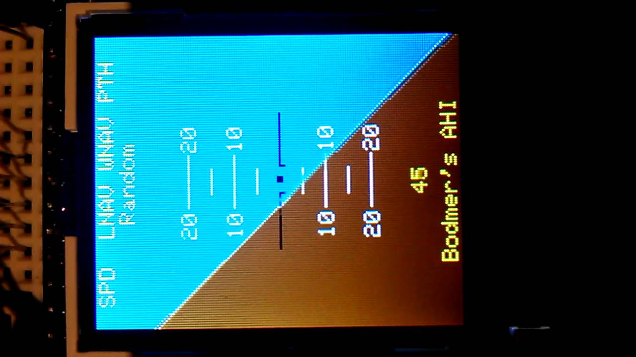 Arduino artificial horizon display youtube