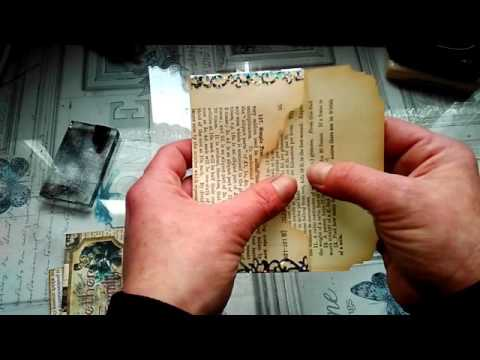 Upcycled Bookpages In Scrapbooking For Beginners Youtube