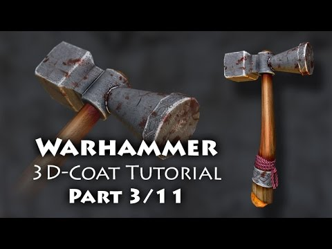 Part 3 (English) - How to create a 3D model for video games - Topic: Fantasy weapon