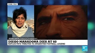 Diego Maradona dies at 60 Italy pays tribute to Argentine football legend