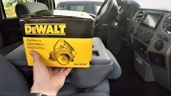Dewalt Hand-Held Tile Saw Unboxing Test & Review