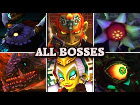 Zelda: Ocarina of Time 3D - All Boss Fights & Ending (No Damage)