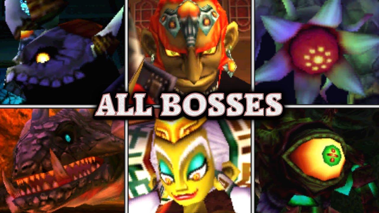 Legend of Zelda Ocarina of Time - All Bosses & Ending (No Damage)