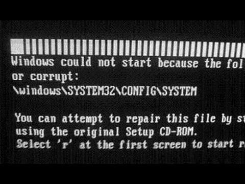 arquivo windows system32 config system