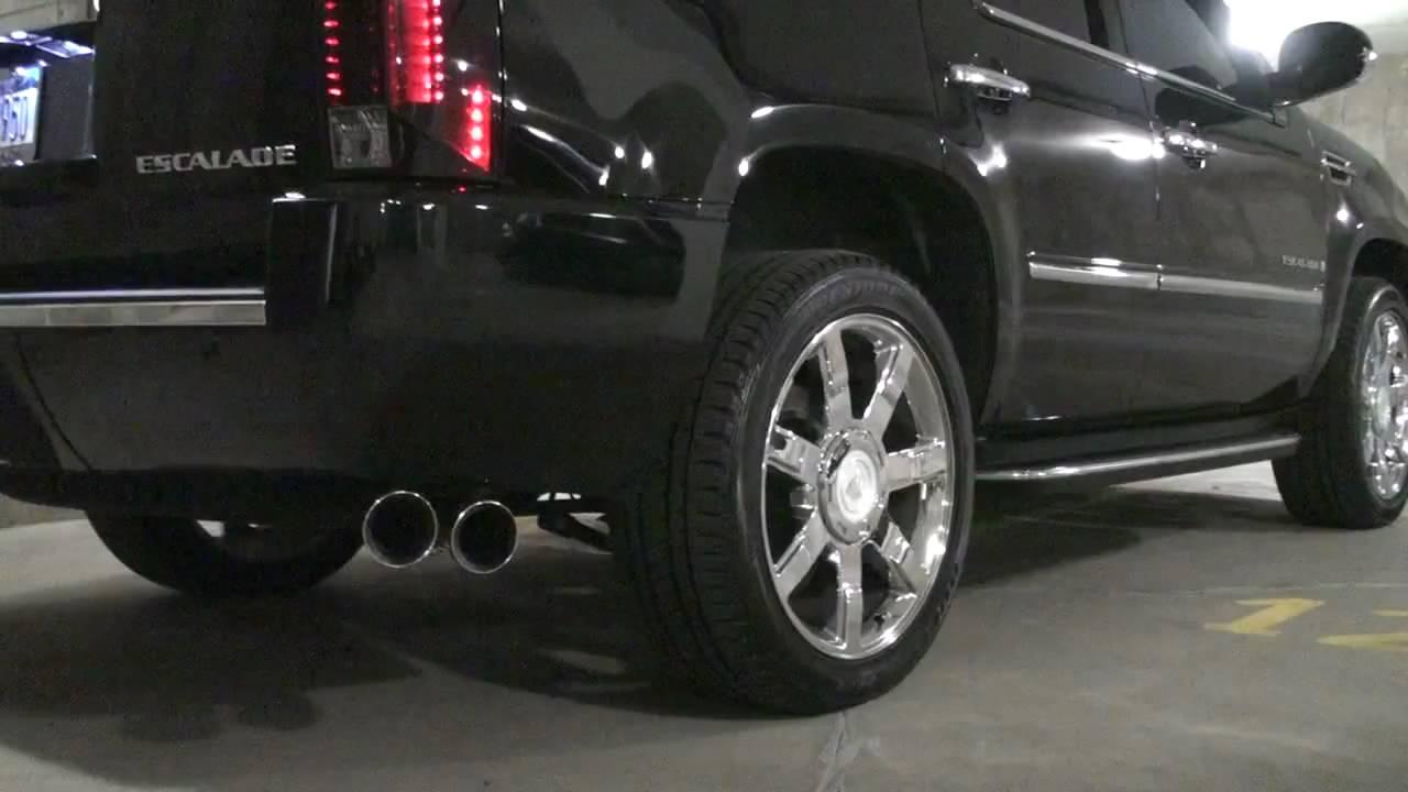 2008 Cadillac Escalade Corsa Sport Exhaust Youtube