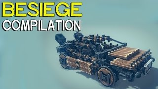 ►Besiege Compilation - Cars trucks & more
