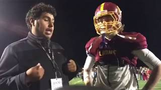 Liberty senior Zane Hinojosa post-game interview (NCS playoff vs Heritage)