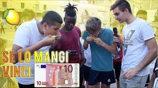 VINCI 10 EURO se mangi un LIMONE intero entro 20 secondi!