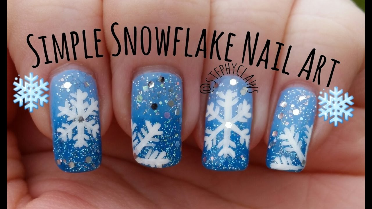 Simple christmas snowflake nail art design tutorial stephyclaws simple christmas snowflake nail art design tutorial stephyclaws prinsesfo Image collections