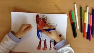 Мастер класс по рисованию Гонщика из мультфильма Щенячий патруль