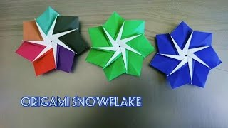 Origami Snowflake/ Paper 7-point Star for Christmas 折纸雪花