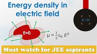 Energy density electric field | Electric field energy density | Energy density in electric field