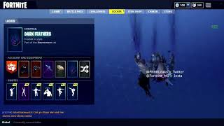 NEW LEAKED DARK FEATHERS Contrail Coming To FORTNITE BATTLE ROYALE (Part Of The Nevermore/RAVEN Set)