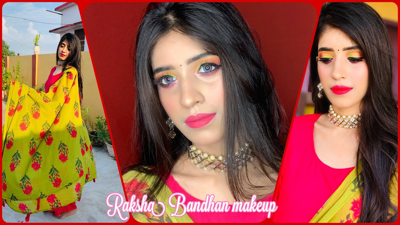 Raksha Bandhan makeup 2021/step by step rakhi makeup look using new product/shrutimakeover