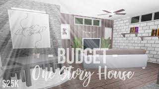 ROBLOX | Bloxburg : Budget One-Story House ( 25k ) ♡
