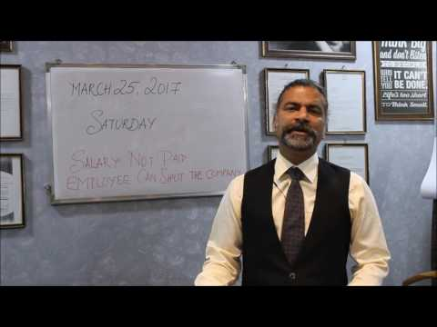 Salary Not Paid - Employee Can Shut The Company   By Adv. Nithia