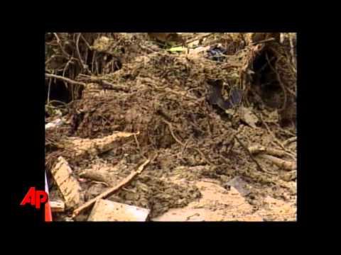 N.C. Mudslide Destroys House, Floods Roads