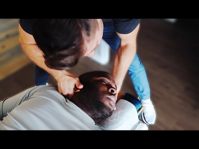 *EXTREMELY LOUD* Chiropractic NECK CRACK (Stiff Neck Release)