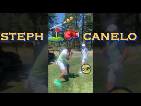 📱 Stephen Curry X Canelo 🥊 Sparring (sort Of), Day B4 ACChampionship Golf Tourney, Edgewood Tahoe