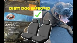 SCA Heavy Duty Canvas Seat Covers - cheap protection for your 4WD seats