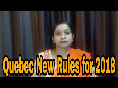 Quebec New Rules for 2018