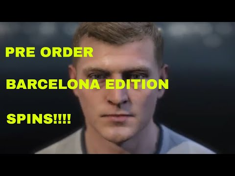 PES 2018 MyClub Preorder Spins Barcelona Legend Edition