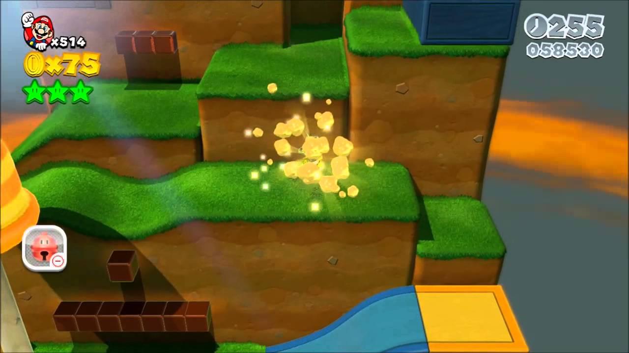 Super Mario 3D World - monde Champignon-2 - YouTube