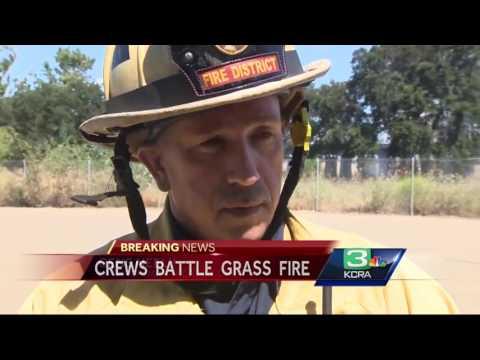 Fire burns railroad trestle in Lathrop