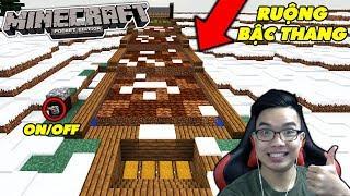 NOOB XÂY RUỘNG BẬC THANG ĐÁ ĐỎ TỰ ĐỘNG TRONG MCPE   Minecraft PE Survival #3