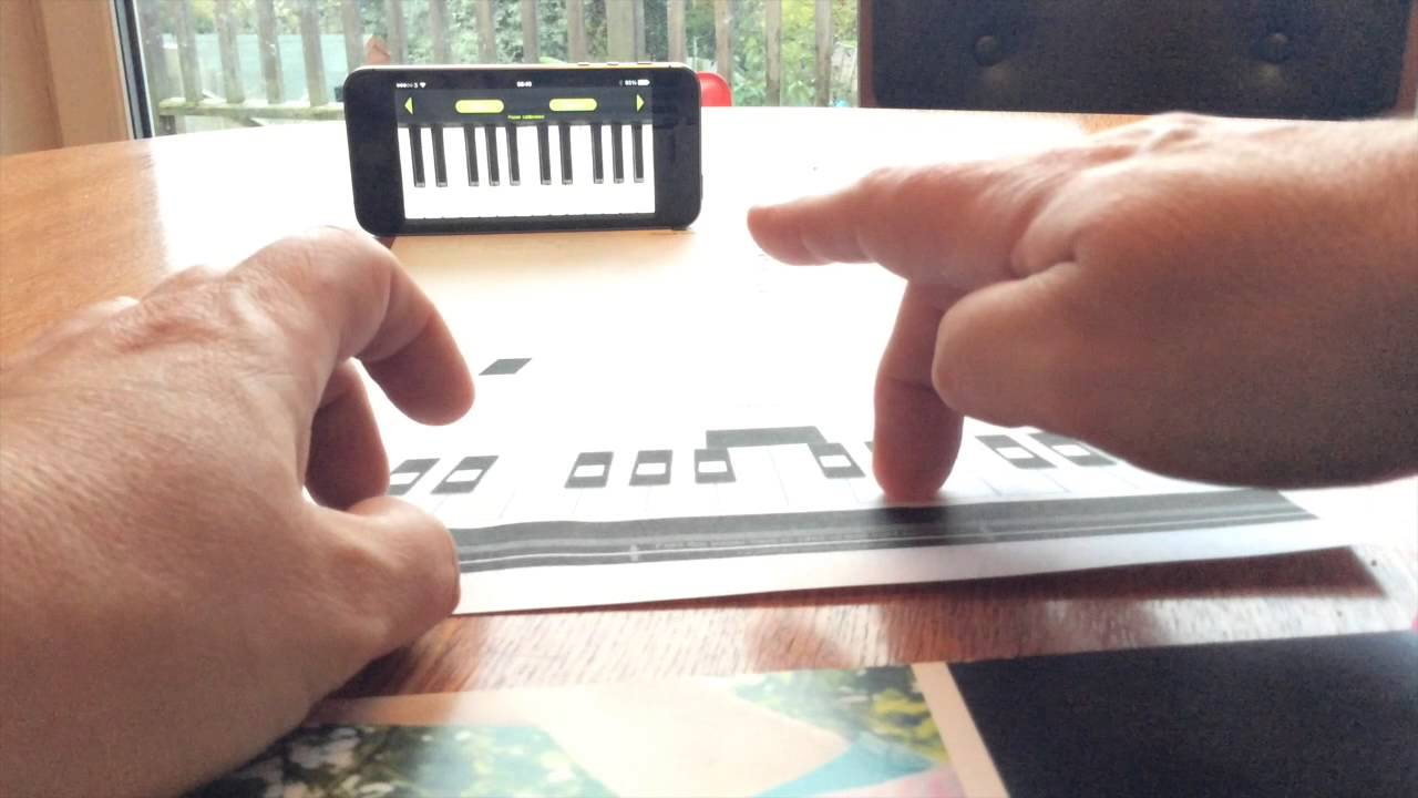 print your own paper piano the amazing iphone app youtube