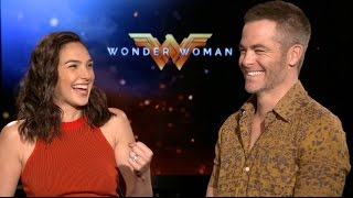 WONDER WOMAN interviews - Gal Gadot, Chris Pine, Patty Jenkins, Connie Nelsen, Huston