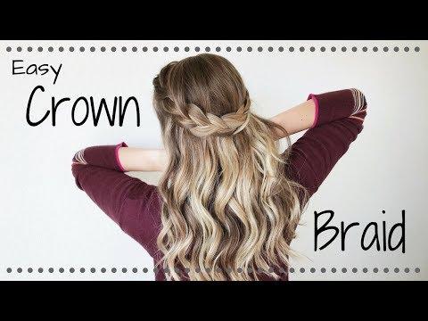 Simple Half Up Crown Braid || Hazel Darling