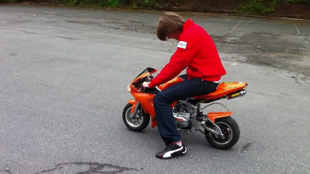 Yamaha r1 110cc Super Pocket Bike - YouTube