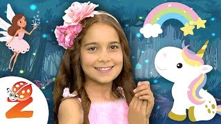 🌈 Ιf You're Happy and You Know It Clap Your Hands 🧚 NEW Rainbow Fairy Edition 🧚♀️ Zouzounia TV