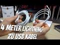 4 Meter langes Lightning auf USB Kabel von NOYCE im Test Review - Kabel sind langweilig ?!?