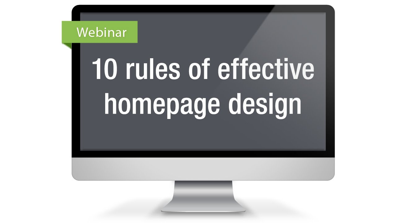 Luminate Community Webinar Apr 2014 10 Rules Of Effective Homepage Design