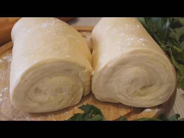 Слоеное дрожжевое тесто быстрого приготовления. Нежное и Воздушное!
