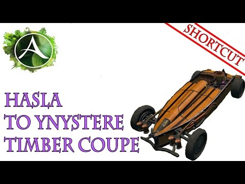 ArcheAge - Hasla to Ynystere trade run shortcut with a Timber Coupe car