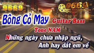 Karaoke Bông Cỏ May | Tone Nam | Nhạc sống LA STUDIO | Karaoke 9669