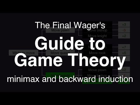 Guide to Game Theory - minimax and backward induction
