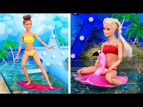 15 DIY Barbie Hacks / Barbie Vacation Ideas!