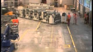 moving company transport sets of heavy machine  time lapse
