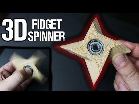Homemade 3D Printed Fidget Spinner!
