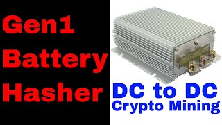 Solar Mining DC to DC crypto mining direct from batteries