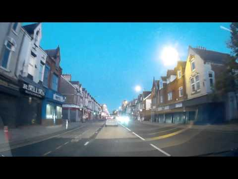 G1W Dash Cam Test - Evening Drive Around Teesside (A19, A66) (30/9/2015)