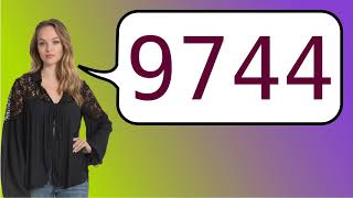 How to say '9744' in French?