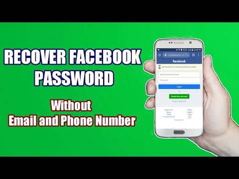 How To Recover Facebook Password Without Email And Phone Number (TAGALOG)