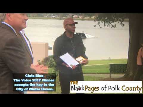 Chris Blue accepts key to the City of Winter Haven, Florida